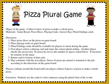 Plural Pizza Activity