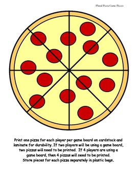 Plural Pizza Game