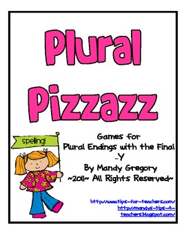 """Plural Pizzazz: Games for Plural Endings with the Final """"Y """""""