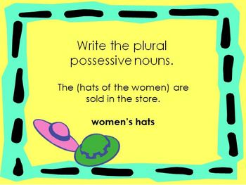 Plural Possessive Nouns Power Point Presentation