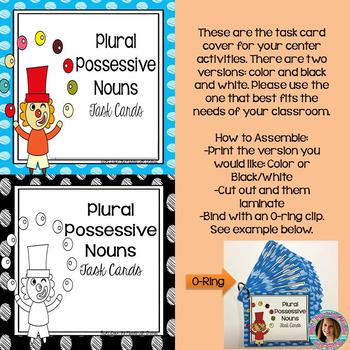 Plural Possessive Nouns Task Cards