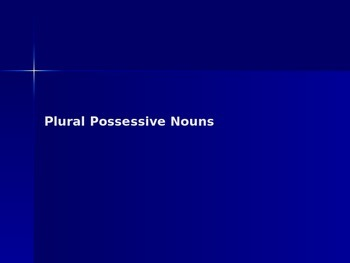 Plural Possessive Nouns.PPT