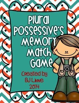 Plural Possessives Memory Match Game