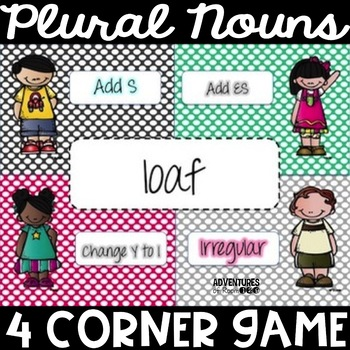 Plural Nouns 4 Corner Game