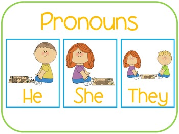Plural Pronoun: They
