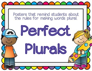 Plural Rules Posters for Back to School