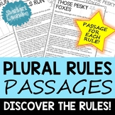 Plural Rules! Reading passages for spelling practice, with irregular plurals