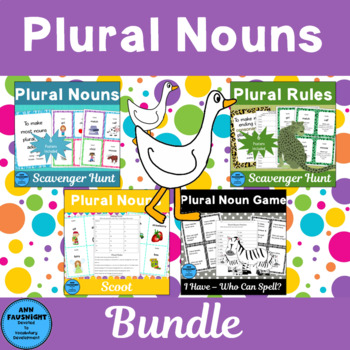 Plural Nouns Activity Pack