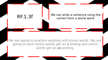 Plural S and ES