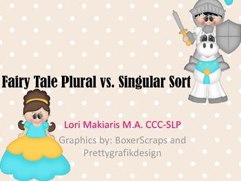 Plural & Singular Fairy Tale Sort