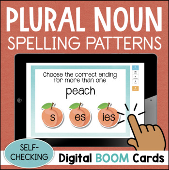 Plural Spelling Patterns S ES IES Digital Task Cards BOOM CARDS