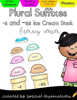 Plural Suffixes -s and -es Ice Cream Stack
