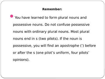 Plural Vs Possessive Nouns