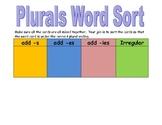 Plural Word Sort- Regular and irregular spellings