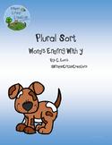 Plural Word Sort - Words Ending With Y