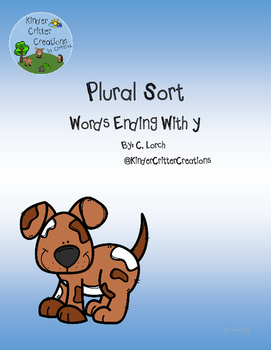 Plural Word Sort - Words Ending With Y