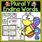 Plural Words-Ending in Y-Change y to i/Add -es or Just -s