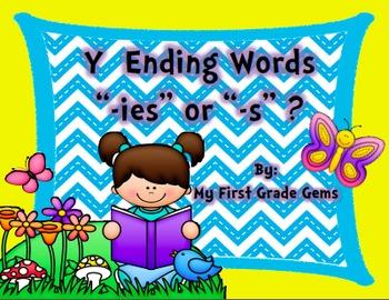 Plural Words-Ending in Y-Change y to i/Add -es or Just -s-