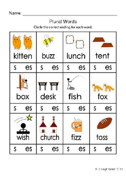 Plural Words - Spelling Pratice