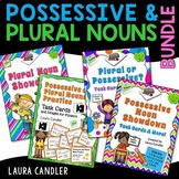 Possessive and Plural Nouns Bundle | Task Cards, Games, an