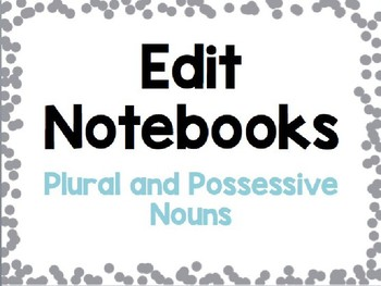 Plural and Possessive Nouns Grammar Practice