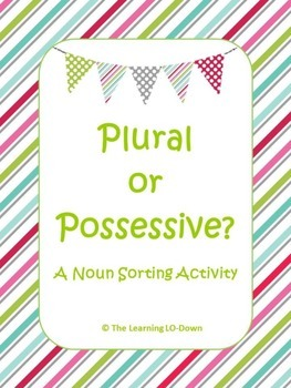 Plural and Possessive Nouns Sort