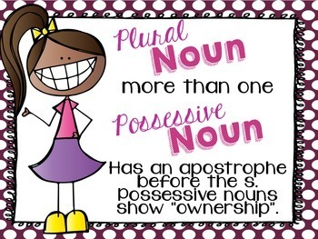 Plural and Possessive Nouns Task Cards/Scoot