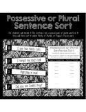 Plural and Possessive Sentence Sort