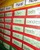 Plural and Singular Nouns Pocket Chart Cards {October}