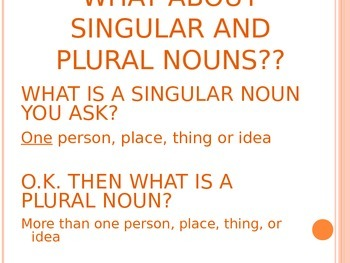 Plural and Singular Nouns PowerPoint