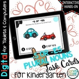 Plural -es Digital Task Cards - Paperless for Google Class