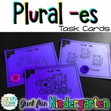 Kindergarten Plural -es Task Cards with Anchor Charts & Ga