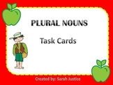 Plural noun task card activity Powerpoint ( Johnny Appleseed)