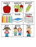 Plural nouns center or whole group activity