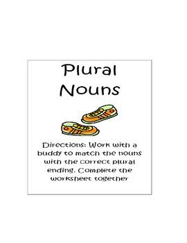 Plural nouns (s and es)
