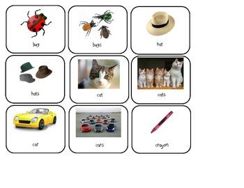 Plural nouns t-chart