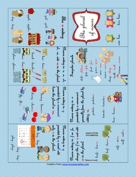 Plural of Nouns, booklet and worksheet