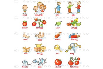 Plural of Nouns in Cartoon Pictures