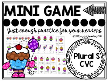 Plural s (CVC)  Phonics Game