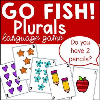 "Plural ""s"" + Counting Go Fish! Game"