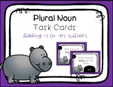 Plural -s or -es Suffix Task Cards