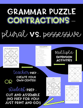 Plural vs. Possessive - Grammar Puzzle