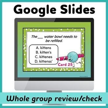 Plural vs. Possessive Noun Task Cards