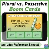 Plural vs. Possessive Nouns Digital Task Cards - Boom Cards