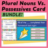 Plural vs. Possessive Nouns Task Cards & Boom Cards Bundle