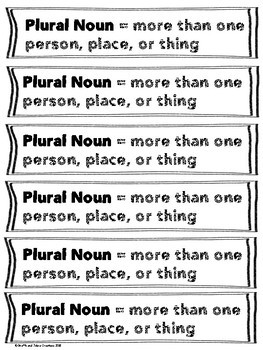 Plural vs. Singular Noun Sort