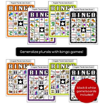 [Sensory Bin] Regular & Irregular Plural Nouns