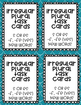 Plurals 2nd edition (s, es, ves, & irregular plurals)