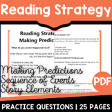 Making Predictions Worksheets | Sequence of Events Reading | Story Elements