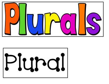 Plurals (A Pocket Chart Activity)